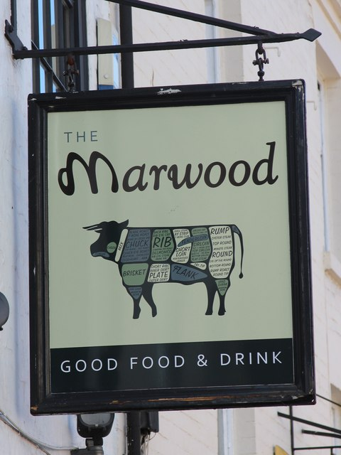 The Marwood sign