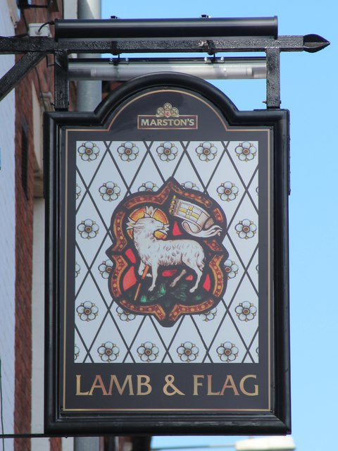 Lamb & Flag sign