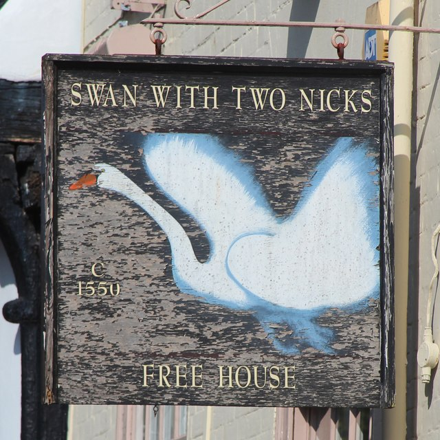 Swan With Two Nicks sign