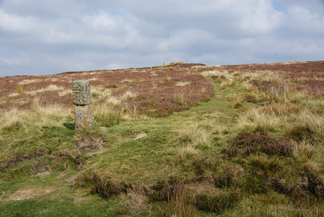 Boundary stone by Round Hill