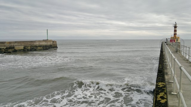 Mouth of River Coquet at Amble from South Pier