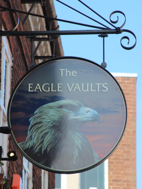 The Eagle Vaults sign