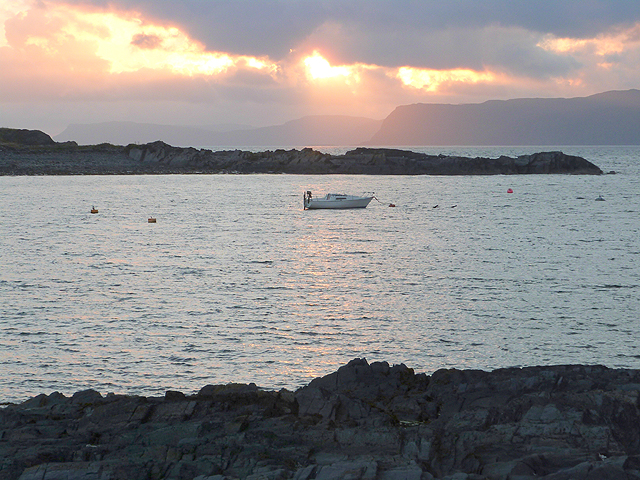 Sunset over Easdale Sound
