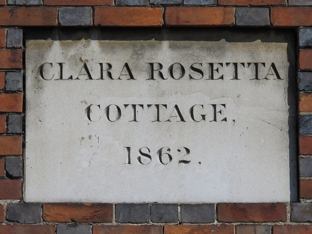 Date stone on Clara Rosetta Cottage, Old Shoreham Road / York Grove, BN1