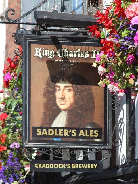 King Charles II sign