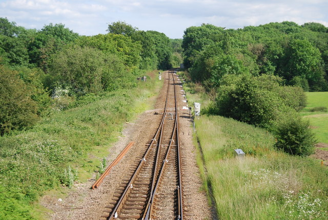 Oxted  Line becomes single track