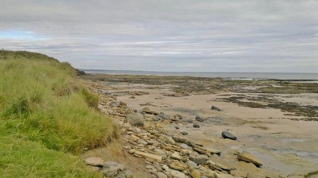 Beach and dunes at Hauxley
