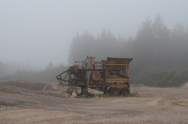 Machinery in the Quarry at Uppat Wood in Sutherland