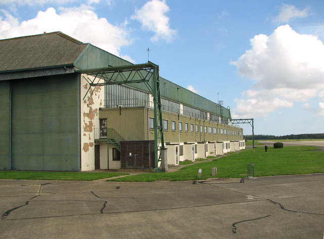 View along the south side of hangar 1