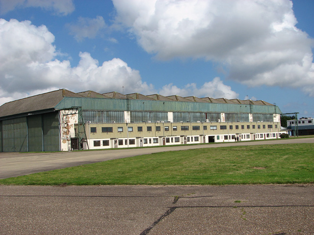 Hangar 1 as seen from across the taxiway
