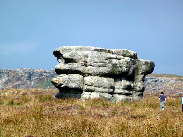 The Eagle Stone on Baslow Edge