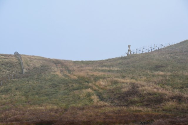 Ladder stile near the summit of Whitehope Heights
