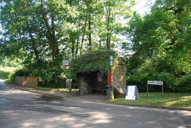 Bus shelter, Hever Rd