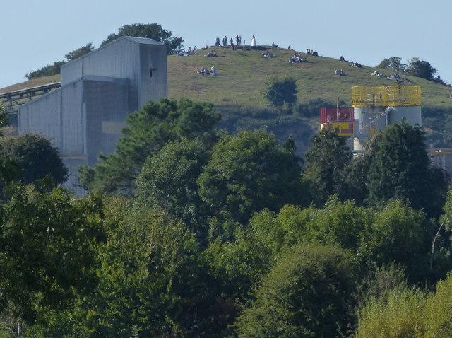 View northwest to Croft Hill