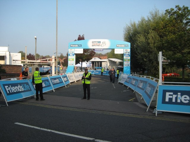 Start of the Tour of Britain, Worcester
