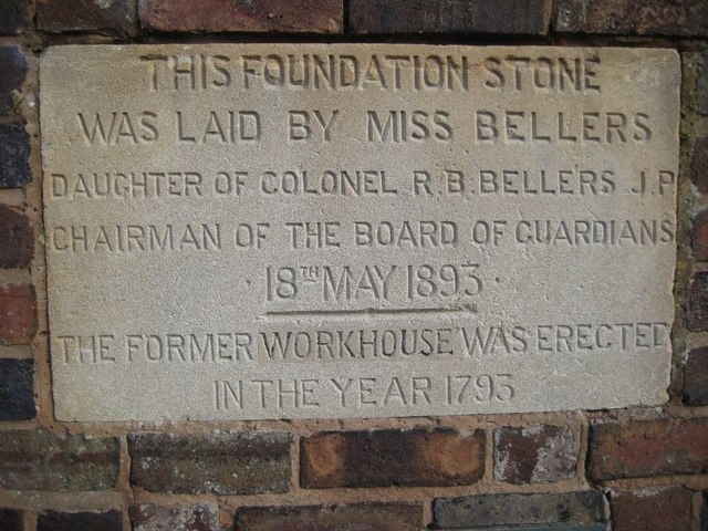 Former Workhouse foundation stone