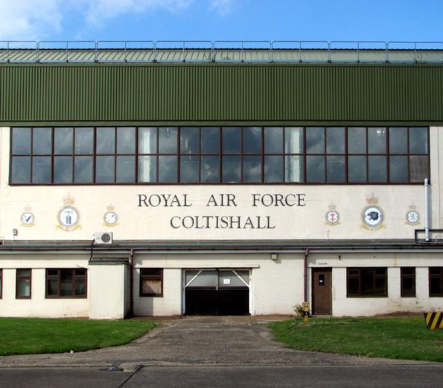 Squadron badges on hangar 2