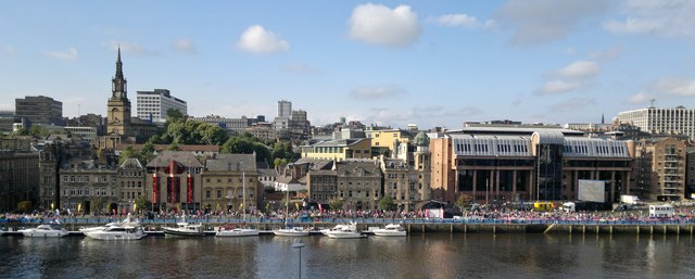 Newcastle Quayside from Sage forecourt