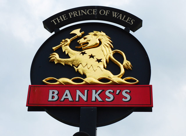 The Prince of Wales (2) - sign, Windermere Drive, Warndon, Worcester