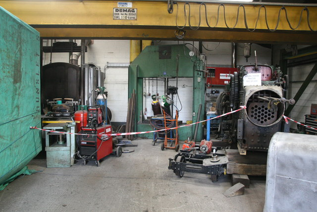 Statfold Barn Railway - boiler shop