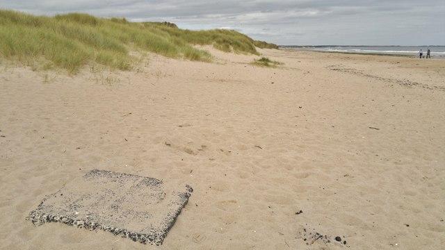 Sand dunes in Druridge Bay