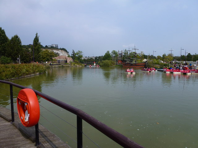 Boating lake at Bluewater Shopping Centre, Kent