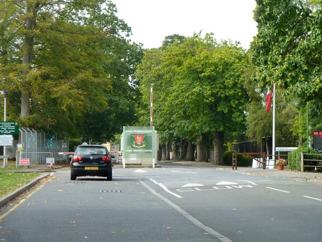Gate to Pirbright Camp