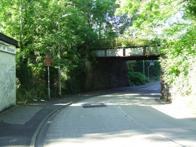 Railway bridge at Bridgend Road