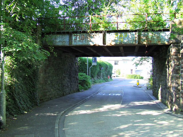 Railway bridge at Bridgend Road