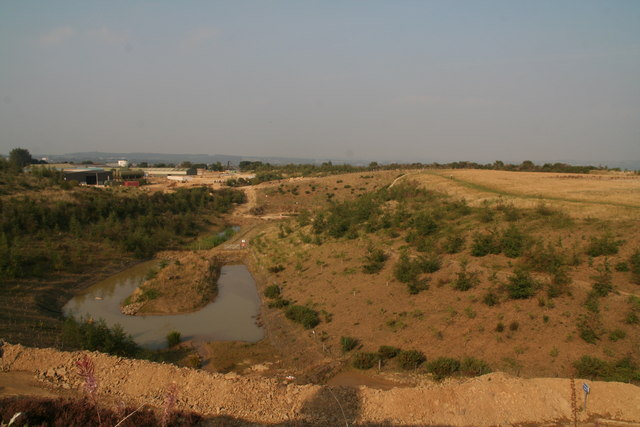 Sand quarry and disused workings by the track to Netherton