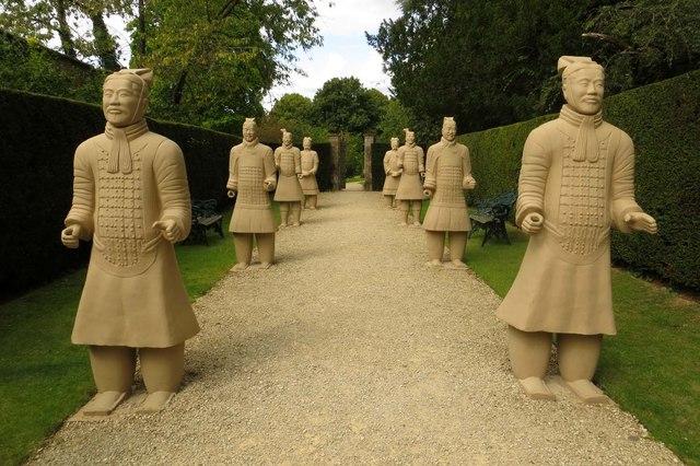 Terracotta warriors at Buscot Park