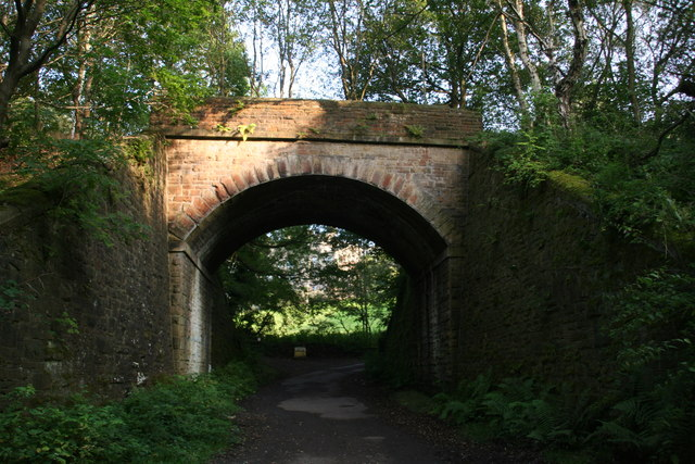 Disused railway bridge over Nether Moor Road