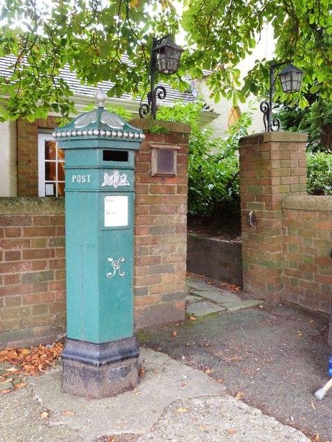 A replica Penfold pillar box, Haslemere High Street