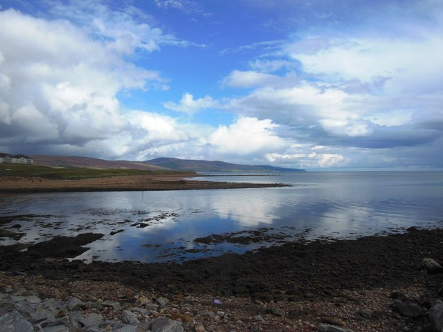 The River Brora meets the sea
