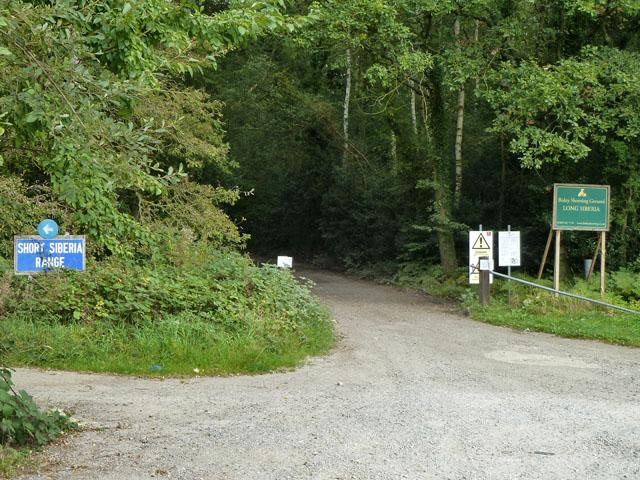 Entrance tracks to Siberia ranges, Bisley