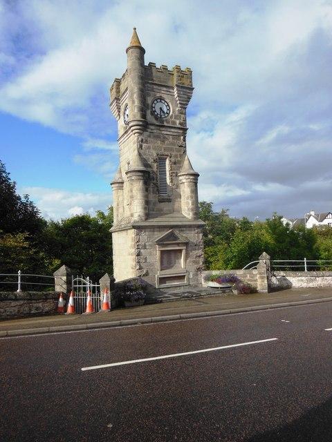 Brora War Memorial and Clock Tower