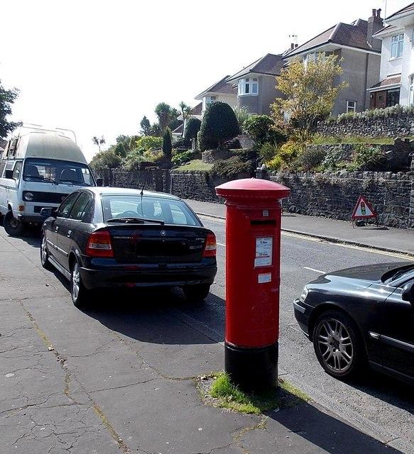 King George VI postbox, Langland Bay Road, Langland, Swansea