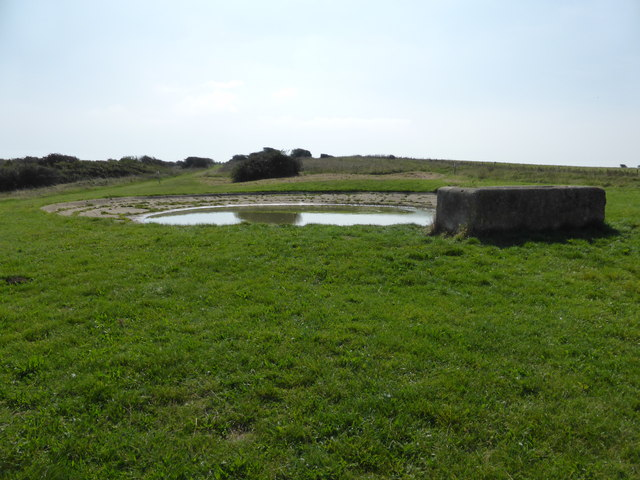 Dew pond on The South Downs Way