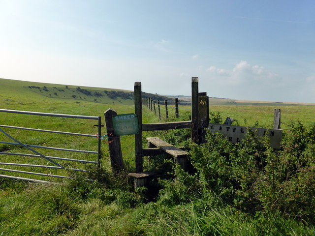Stile on Footpath to East Dean