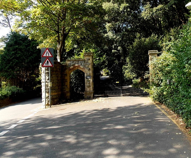 Entrance gates to Langland Bay Manor