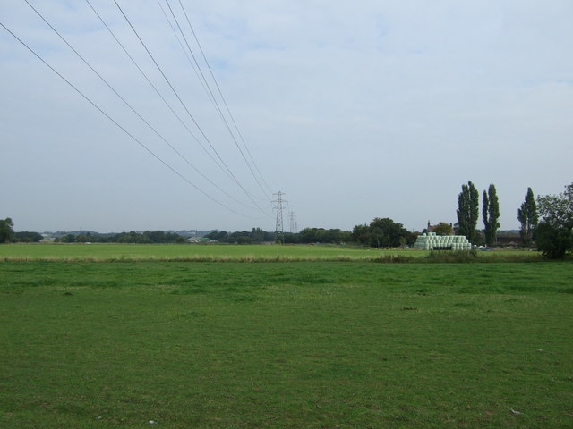 Farmland and powerlines