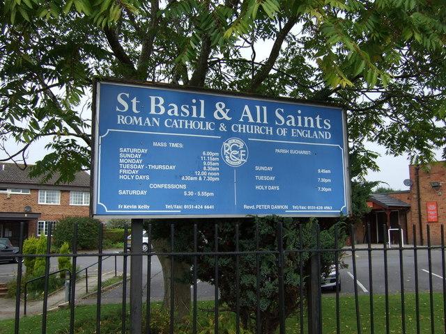 Sign for St Basil & All Saints Church