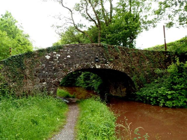 West side of Mon & Brec canal bridge 124 near Cwm Crawnon Road