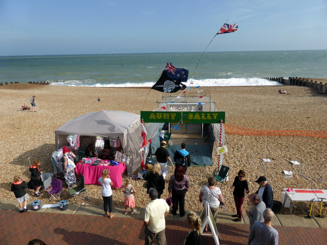 Aunt Sally Stall on Eastbourne Seafront