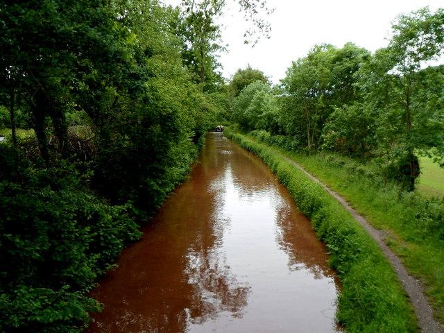 Mon & Brec canal west of bridge 124 near Cwm Crawnon Road