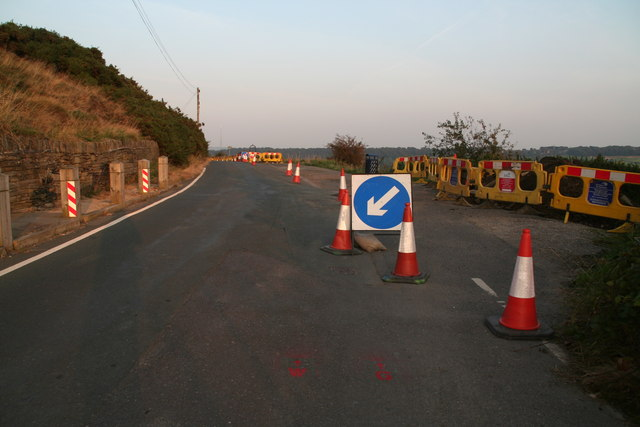 Castle road works, Castle Hill Side