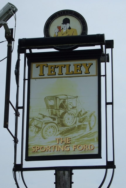 Sign for the Sporting Ford pub