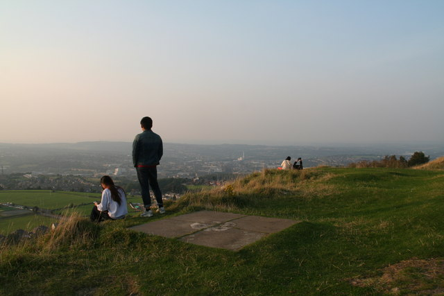 Admiring the view from Castle Hill
