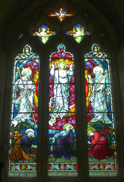 West window, St Faiths, Berrow