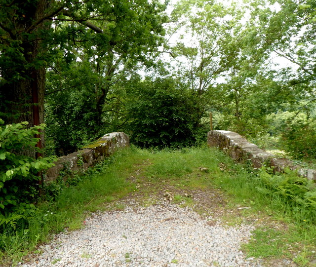 Grassy path across Mon & Brec Canal bridge 123